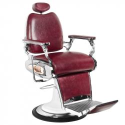 Barberarstol GABBIANO MOTO STYLE röd