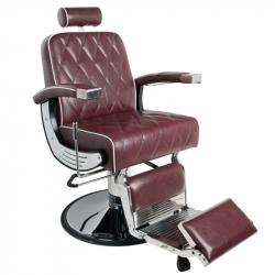 Barberarstol GABBIANO IMPERIAL röd