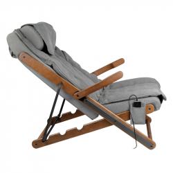 Hopfällbar fåtölj SAKURA RELAX grå med massage