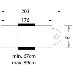 Elektrisk behandlingssäng svart LUX 3-motor