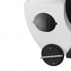 Schamponeringsstol GABBIANO C024 svart / vit