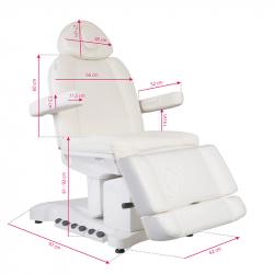 Elektrisk behandlingsbänk AZZURRO 708B EXCLUSIVE 4-motor vit med uppvärmning