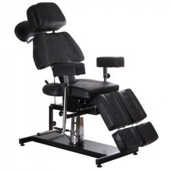 Tatueringsstol / behandlingsstol roterbar BD-3603 svart