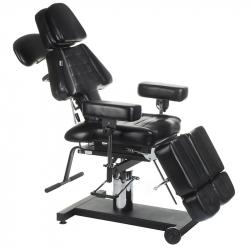 Tatueringsstol / behandlingsstol roterbar LARI INKOO svart