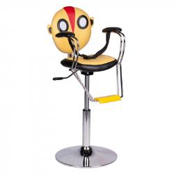 Frisörstol BR-6005 gul för barn