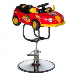 Frisörstol BW-602 röd bil för barn