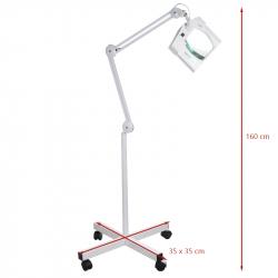 Förstoringslampa / arbetslampa BN-208L LED 8 dioptrier vit med stativ