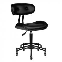 Arbetsstol / kundstol med ryggstöd GABBIANO FLORENCE svart